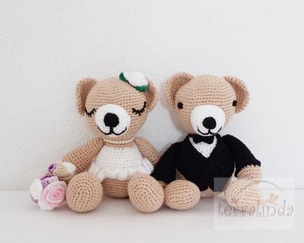 Urso Casal Noivinhos